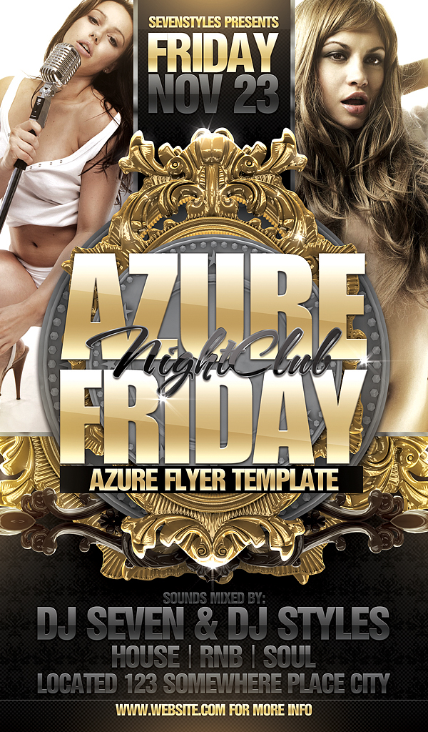 Azure Flyer Template By 7Styles On Deviantart