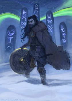 Gideon Jura [KHM] - Magic: the Gathering Fan Art