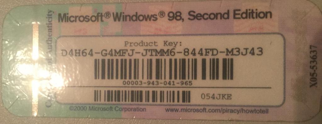 machine windows 98 on windows 7