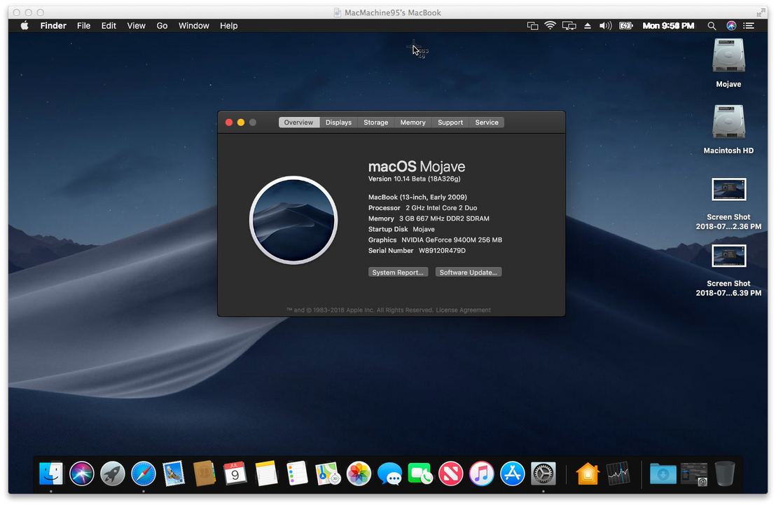 macOS Mojave on Unsupported Mac by MacThePlaneh on DeviantArt