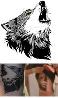 Wolf tatoo by evergard