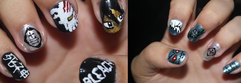 Bleach Nail Art By Kcathrynkidd