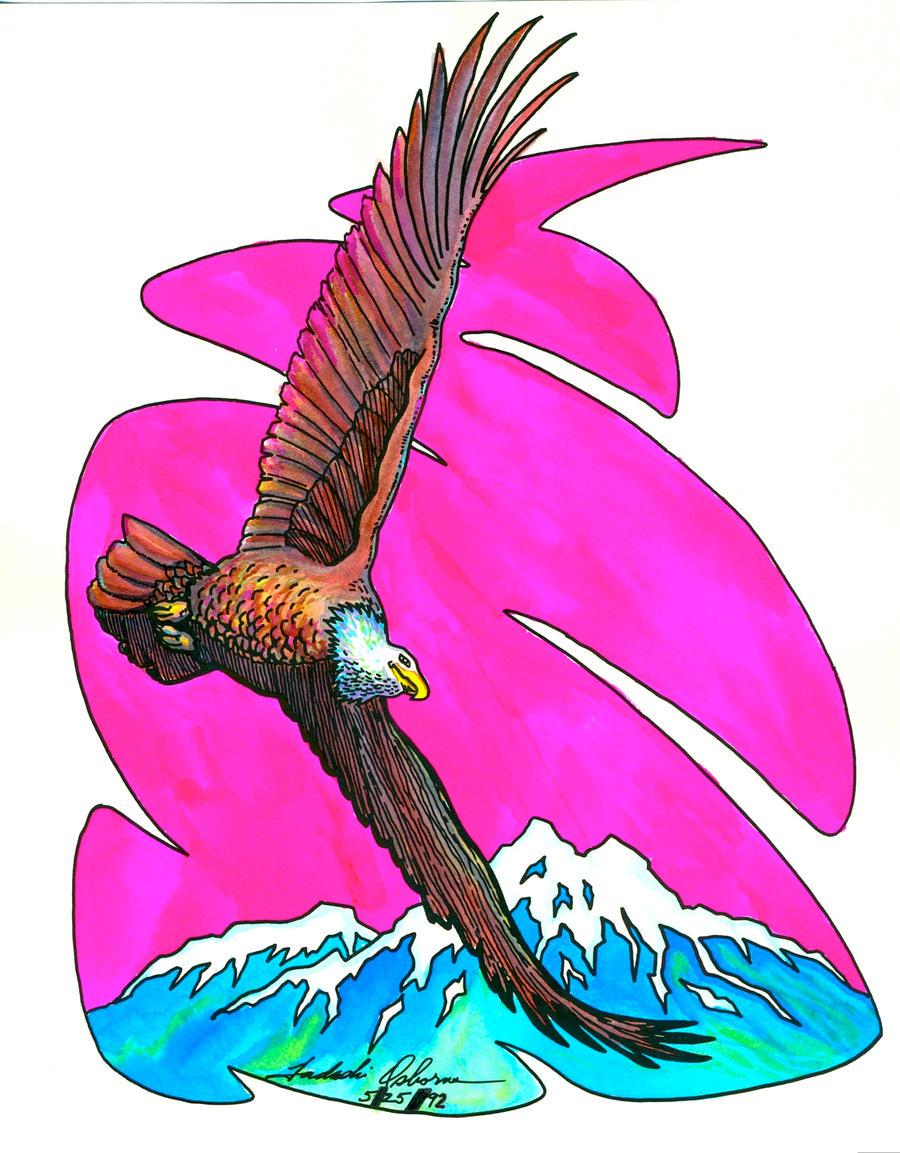 """""""Eagle Soaring"""" by TADASHI-STATION"""