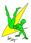 'Gymnastics Logo' Green + Gold
