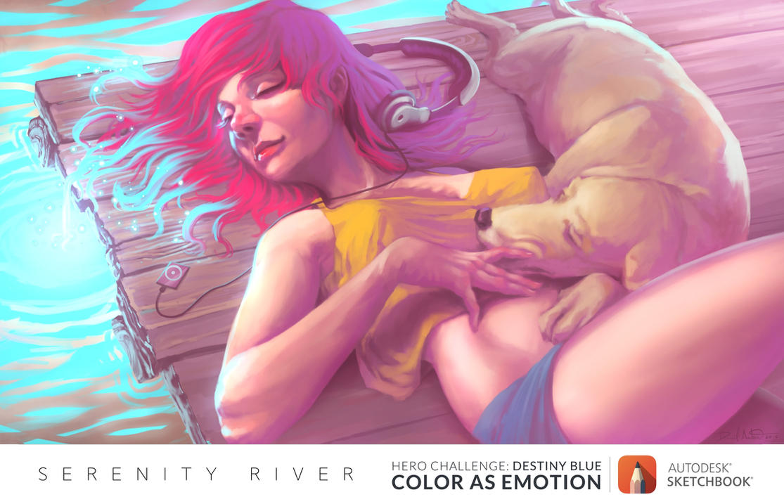 Serenity River by Daniel-Aubert