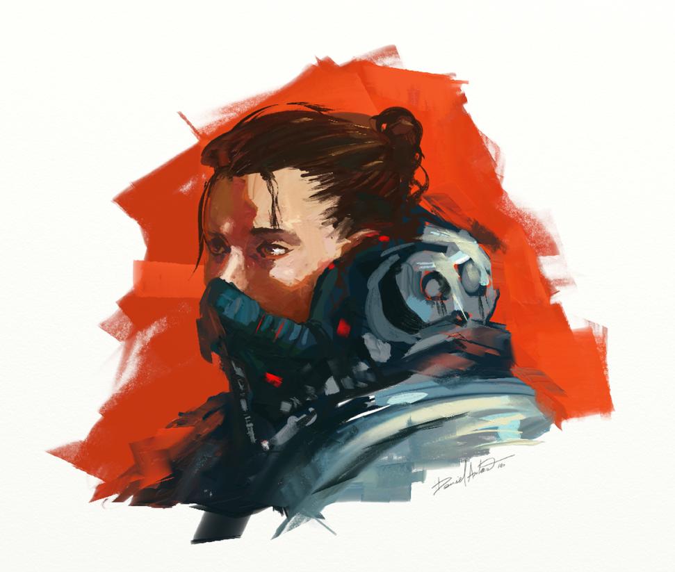 Quick skecth - character design Astronaut by Daniel-Aubert