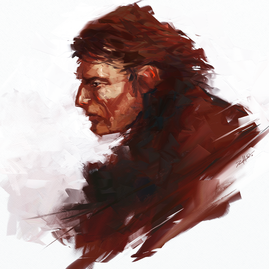 Quick skecth - character design: Tough dude by Daniel-Aubert