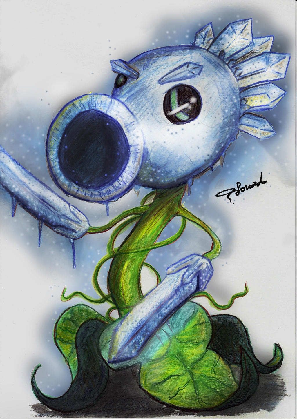 Ice Peashooter By Fouad Z On Deviantart