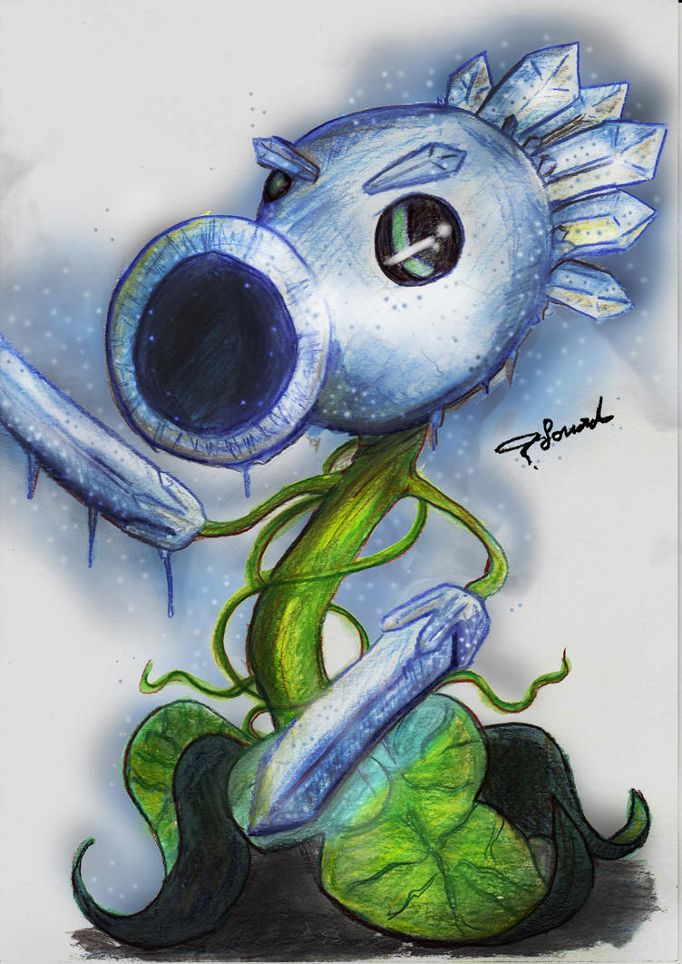 Ice Peashooter by Fouad-z on DeviantArt
