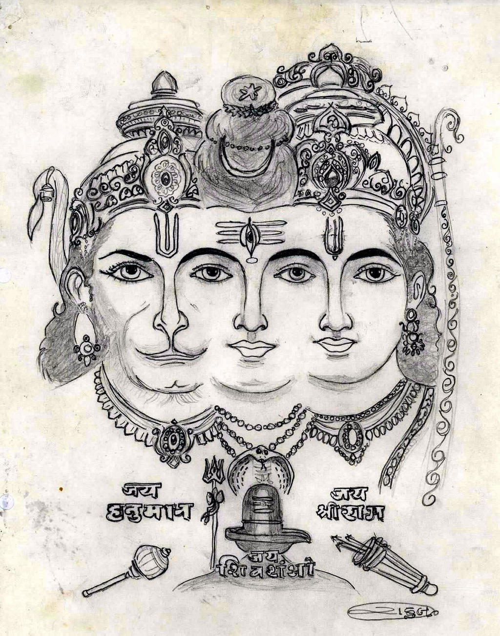 Line Art Hindu Gods : Hindu gods by rahulxiii on deviantart
