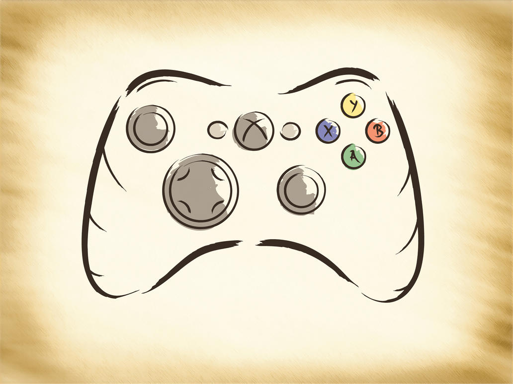 D Line Drawings Xbox : Explosive dawn controller by lordess alicia on deviantart