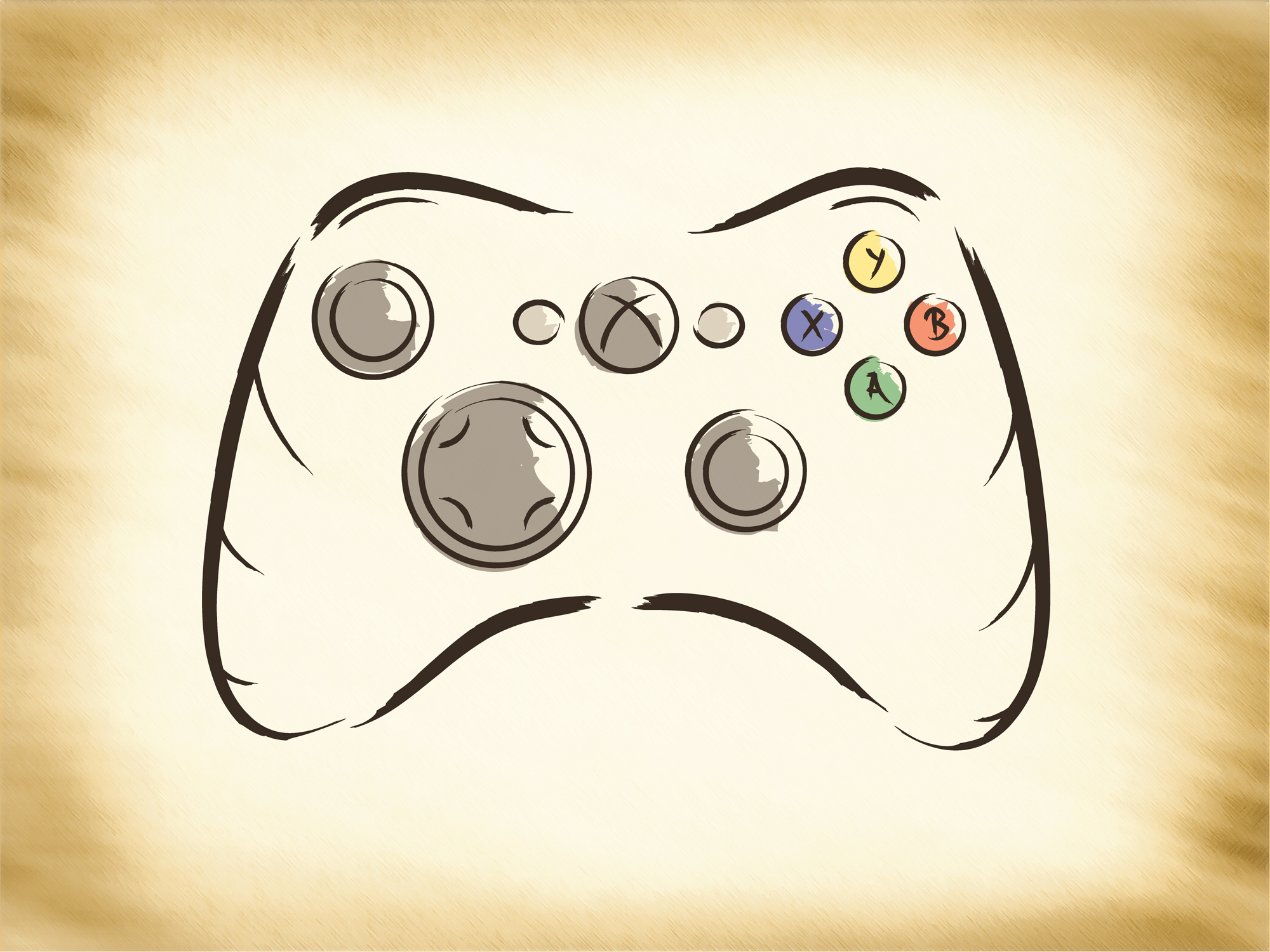 D Line Drawings Xbox : Explosive dawn controller by imperatoralicia on deviantart