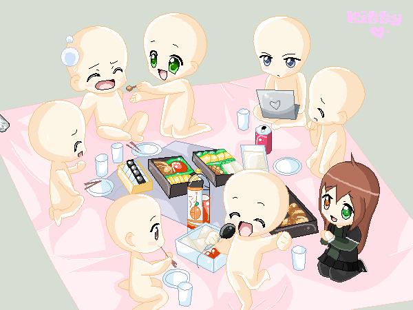 Collab: Chibi picnic by Meiko-Sapphire