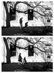 Man Lady Street Scene