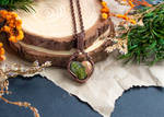 Wire Wrapped Unakite Necklace