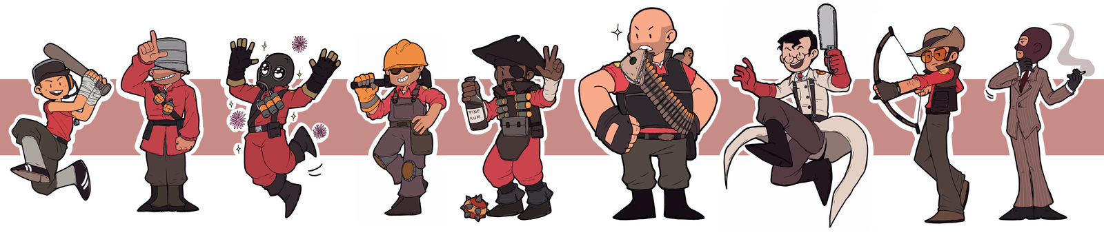 TF2 - The mercs - RED -