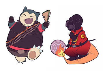 TF2 - Gotta catch em all merchs by BloodyArchimedes