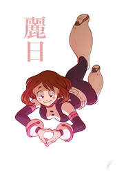 FANART - Uraraka - by BloodyArchimedes