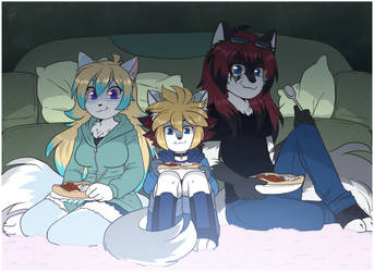 COMMISSION - Family evening - by BloodyArchimedes