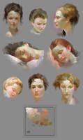 skin tone study of Pino Daeni's art