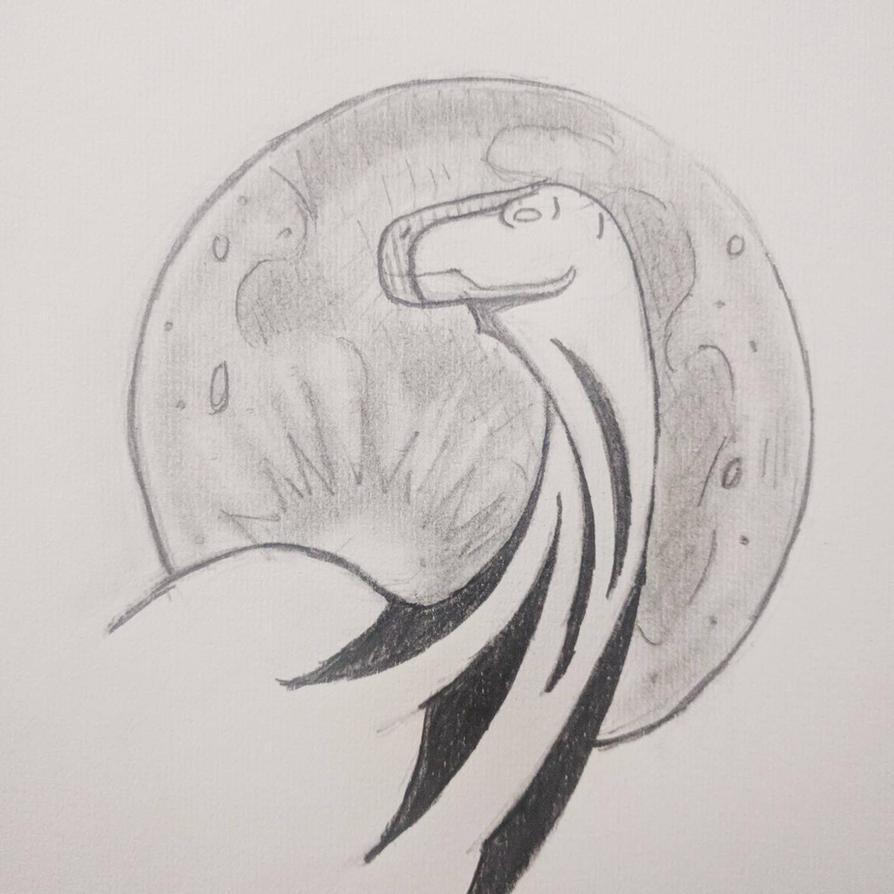 Dinosaur Tattoo design by ObsidianOrichalcum