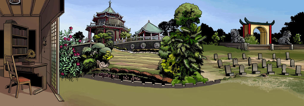 Toho Scroll Project Background (2/2) by pellaeon