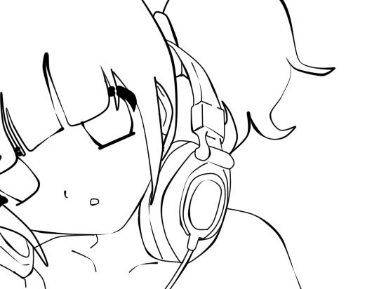 Line Art Headphones : Lineart headphone by mynameisled on deviantart