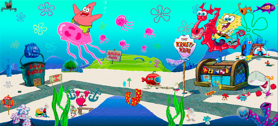 Spongebob aquarium background by jitterpug on deviantart for Spongebob fish tank