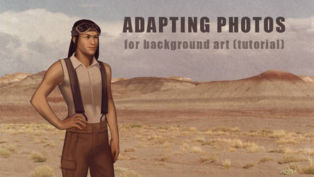 Adapting Photographs for Background Art Tutorial by sunlabyrinth
