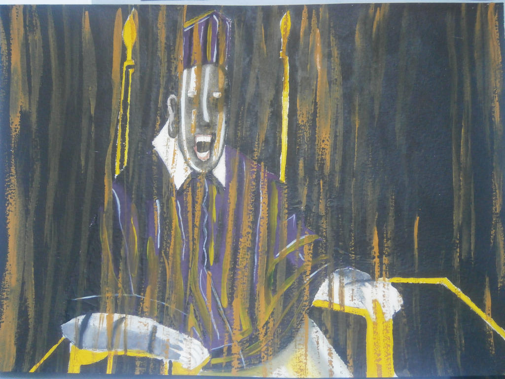 Francis Bacon's Screaming Pope (fanart) by IsabellaTwibell ... Francis Bacon Artist Screaming Pope