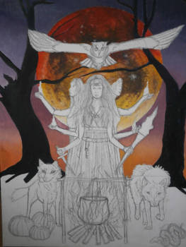 W.I.P Hecate Painting