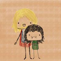 Thor and Loki by aziri