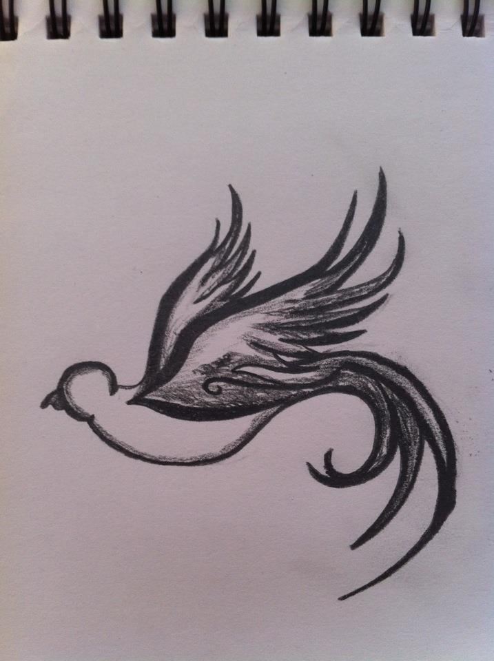Dove Drawings Images Dove drawing by rodjijDove Bird Drawing Tattoo