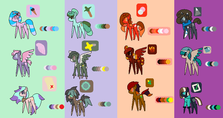 Season based  ponies adopts (open) 5-15 points by mew190000