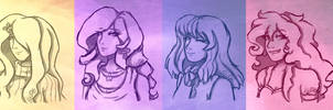 MLP: Mane 6 headshots (sketch)
