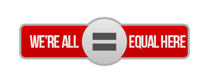 'We're all equal' here crew banner
