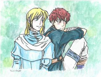Lucius and Raymond (FE Secret Santa) by SenpaiTaco-sama