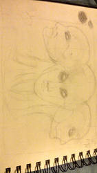 attempt at sketching Morrigan Lugus