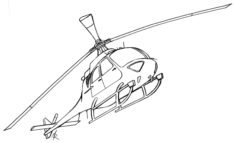 Line Drawing Helicopter : Helicopter practice by daolpu on deviantart