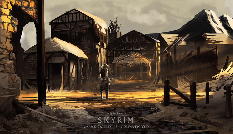 Skryim Vvardenfell Expansion Concept Art by Daolpu on ...