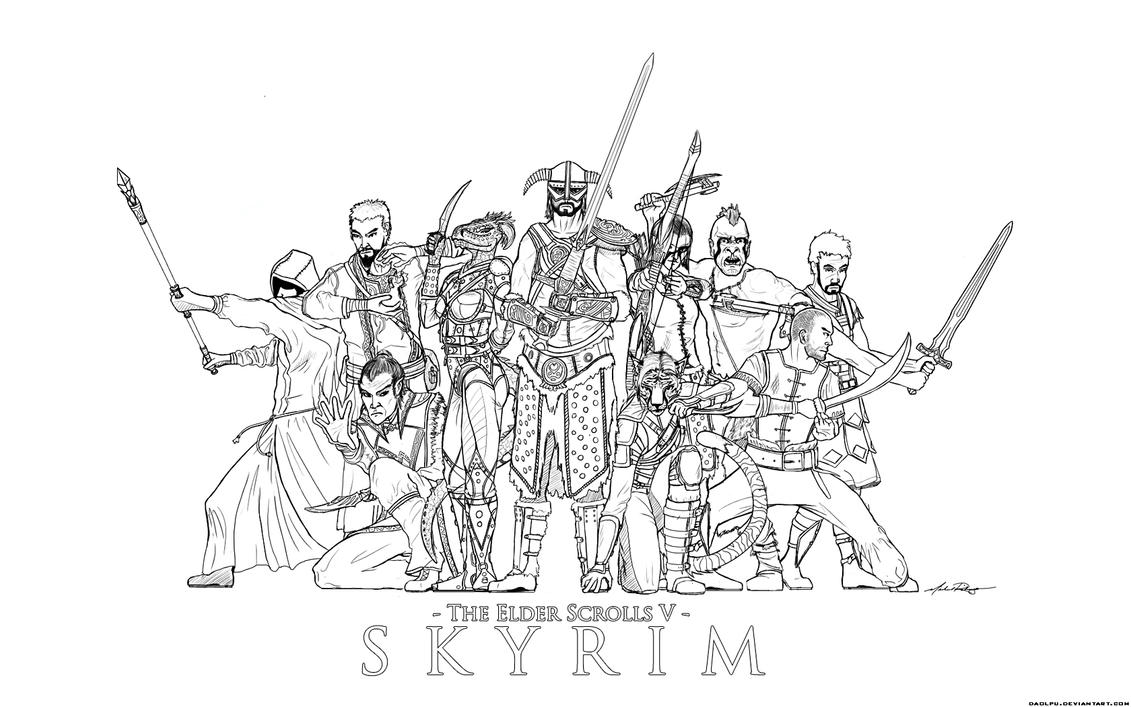 female dragonborn coloring pages - photo#25