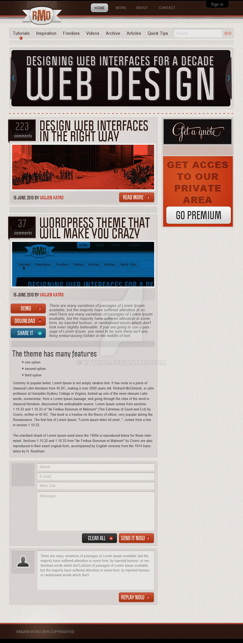 RMD WordPress Theme by Katro16