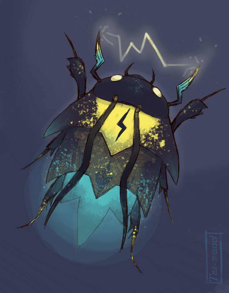 Cosmic Lightning Bug by Tea-weasel