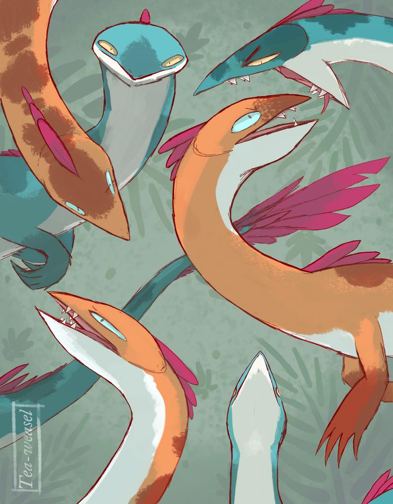 A bunch of Raptors by Tea-weasel