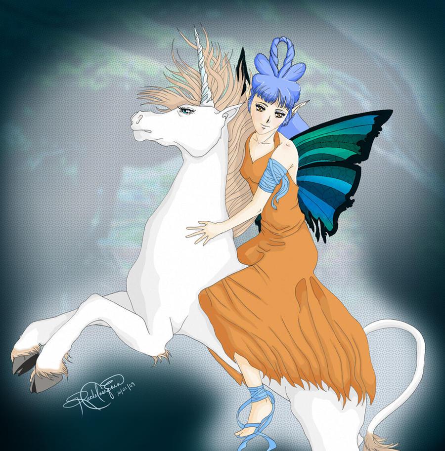 Unicorn Rider by heavenlystuffed