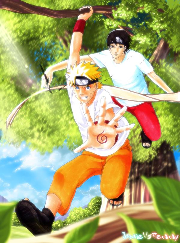 Naruto and Sai: Collab by Renny08