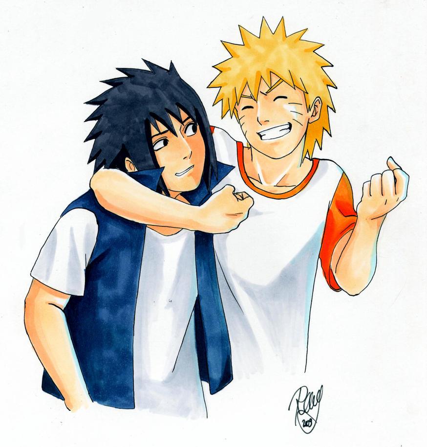 Naruto And Sasuke BestFriends By Renny08