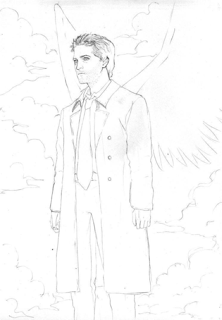 Castiel supernatural coloring pages sketch coloring page for Supernatural coloring pages