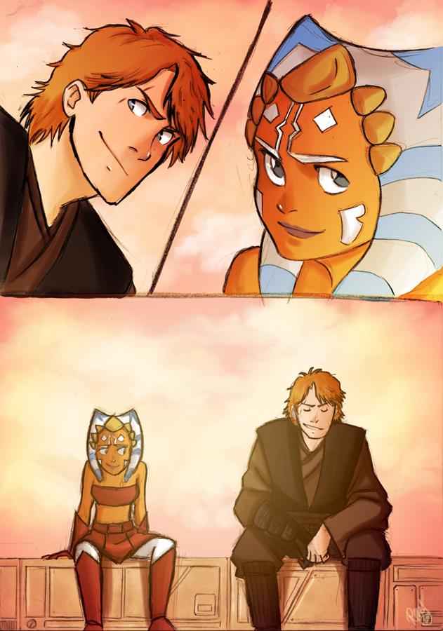 Just Anakin and Ahsoka by Renny08