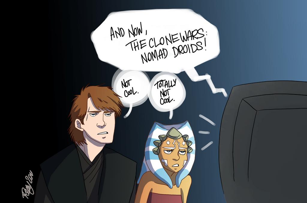 Anakin and Ahsoka's reaction by Renny08
